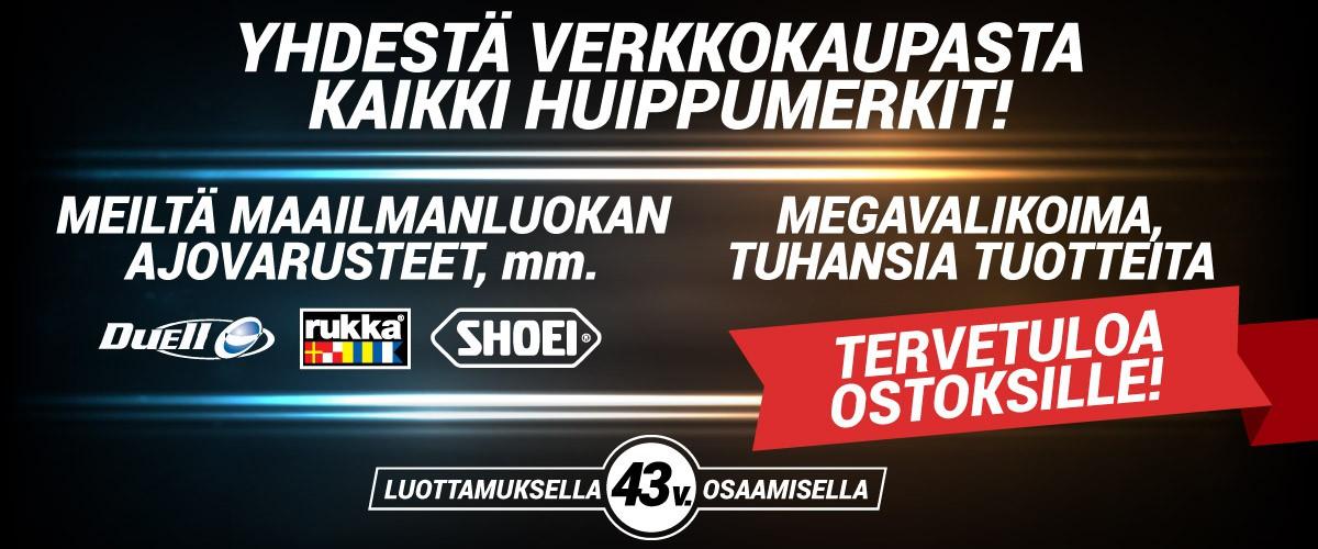 Jokiniemi-Motors Oy, Seinäjoki - Suomen suurin Duell Bike-Center -jälleenmyyjä - Rukka - Shoei - Moottoripyöriä, mönkijöitä, veneitä, vesijettejä, moottorikelkkoja, perämoottoreita, varaosia, ajovarusteita