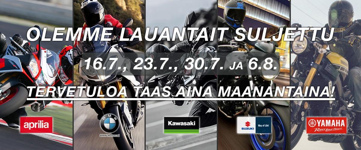 Jokiniemi-Motors Oy, Seinäjoki - Suomen suurin Duell Bike-Center -jälleenmyyjä - Aprilia, BMW, Kawasaki, Suzuki, Yamaha - Moottoripyöriä, mönkijöitä, veneitä, vesijettejä, moottorikelkkoja, perämoottoreita, varaosia, ajovarusteita