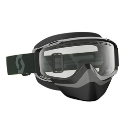 Scott Goggle Split OTG Snow Cross black/white clear