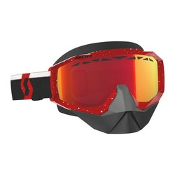 Scott Goggle Hustle Snow Cross red/white enh red chr