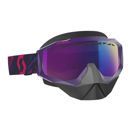 Scott Goggle Hustle Snow Cross purple/pink enh teal chr